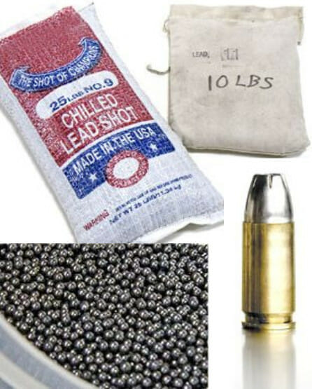 Lead Shot and Lead Bullet Alloys for Ammunition metal from Nuclead