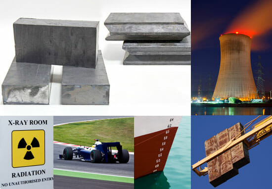 Lead Bricks for Radiation Protection, racing weights, lead ballast and lead counter weights. Interlocking lead bricks bricks are available for specific applications