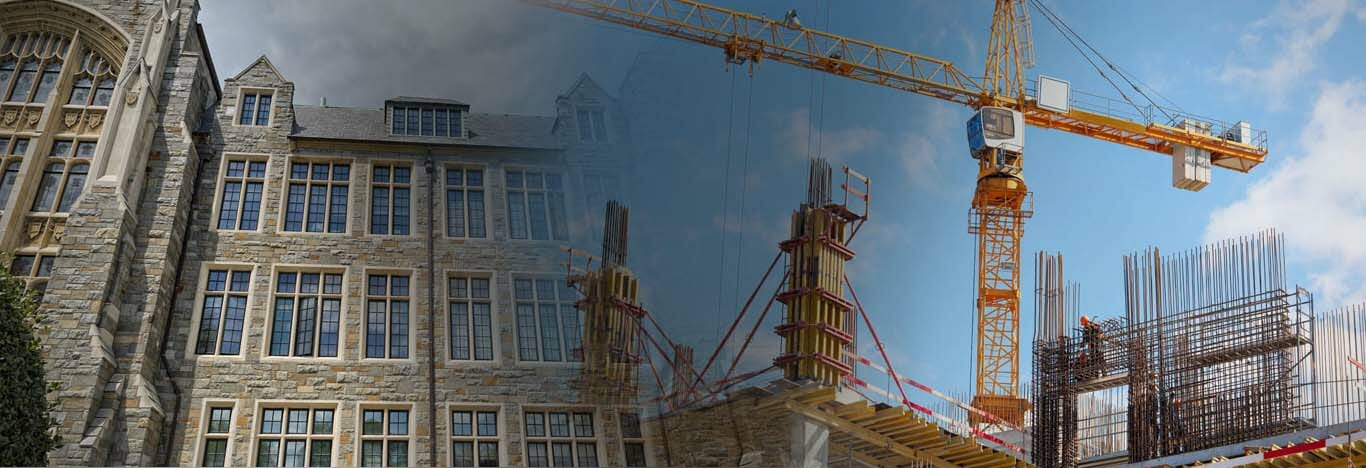 construction market lead flashing and building cranes